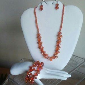 orange sparkle set